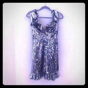 Free People Purple Sequin Dress